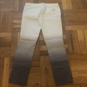 White and grey ombré Tory Burch jeans!